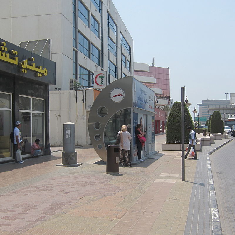 Air-conditioned bus stops: from shelters to service hubs