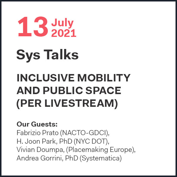 SYS Talks: Inclusive mobility and public space (per Livestream)